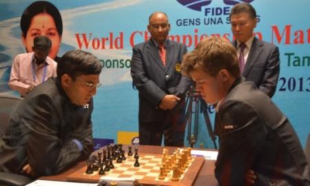 گزارش از بازی اول  و دوم قهرمانی جهان میان کارلسن - آناند