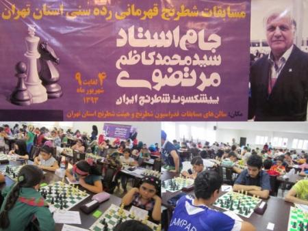 قهرمانی رده های سنی استان تهران